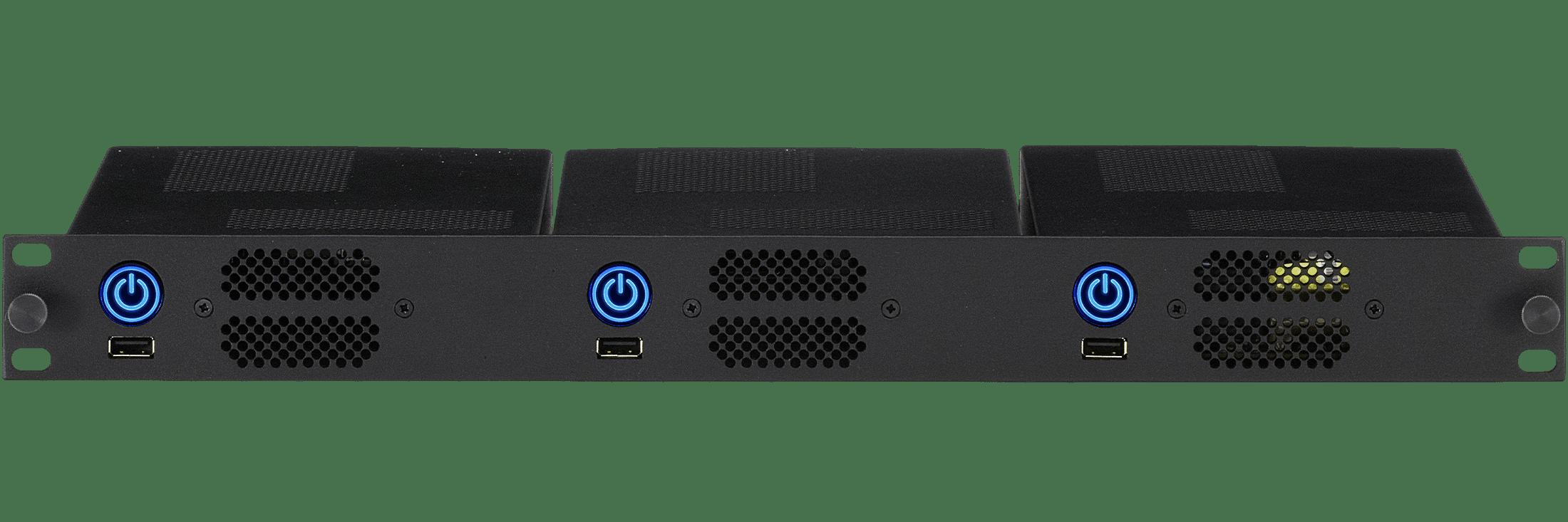 3 Intel NUCs in 1U Rack Mount