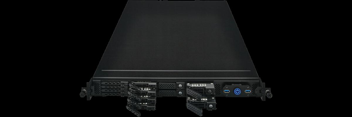 1U PC with PCIe Hot Swap Bays